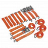 Image for Car Transporter Ratchet Tie Down Alloy/Steel Wheel Kit 4pc 50mm x 3mtr 4500kg Load Test