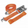 Image for Car Transporter Ratchet Tie Down 50mm x 3mtr Alloy Wheel - Single 5000kg Load Test