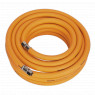 Image for Air Hose 10mtr x &#216 10mm Hybrid High Visibility with 1/4
