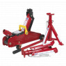 Image for Trolley Jack 2tonne Short Chassis with Axle Stands (Pair) 1tonne Capacity per Stand & Storage Case